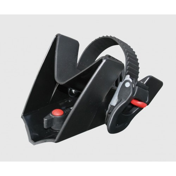 Rail vélo avec cales-roues à cliquet