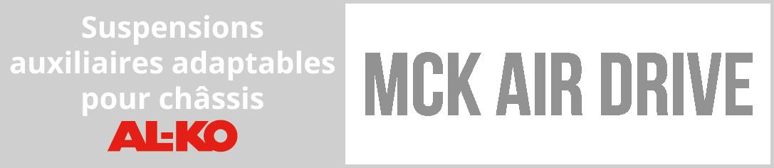 Suspensions pneumatiques auxiliaires MCK AIR DRIVE adaptables pour châssis AL-KO